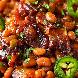 Spicy Baked Beans with Bacon.