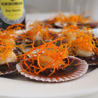 Scallops with Soy Sauce and Pomegranates Recipe