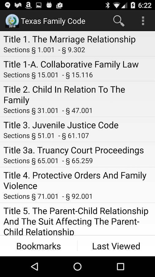 2016 TX Family Code- screenshot