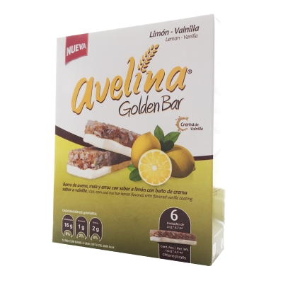 cereal avelina golden bar limon 132gr