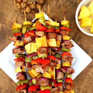 Pineapple Pork Kebabs.
