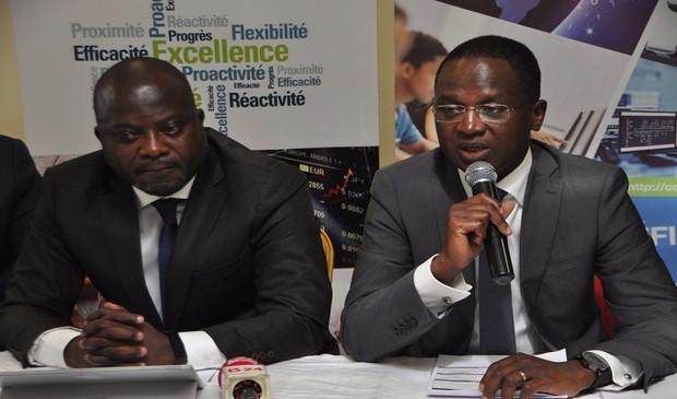 Patrick M'bengue est le PDG du groupe Inova , Président du Gotic , Vice-président Commission TIC CGECI et M. Ahmed Cissé, président du comité d'organisation