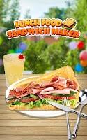 Screenshot of Lunch Food: Sandwich Maker