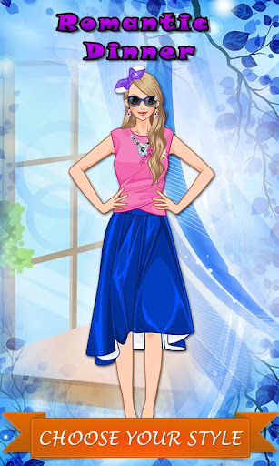 Romantic Dinner: Girl Dressup