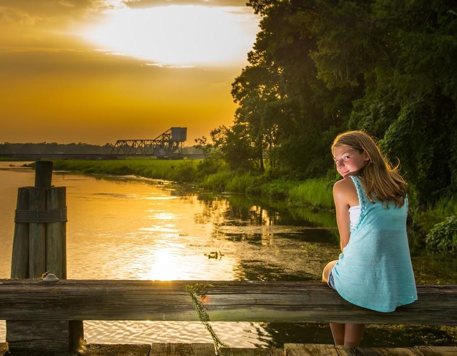 Sunray Sitting by John Herald - Babies & Children Child Portraits