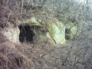 Photo: Not known cellars on the mountainside, next to the lake of Ostoros (deep in the jungle), Hungary (2010) - Seems like a sunk skull :)