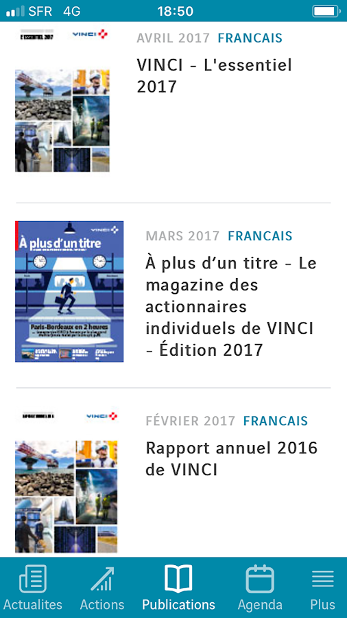VINCI News – Capture d'écran