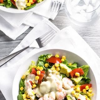 Shrimp Salad with Creamy Pesto Dressing