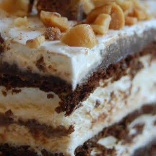 Hot Fudge Ice Cream Bar Dessert.