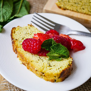 Almond Flour Lemon Zucchini Loaf Cake.