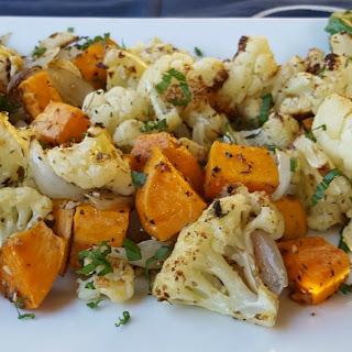 Roasted Cauliflower and Sweet Potatoes Recipe