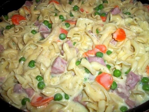 Creamy Ham - Swiss - Noodle Skillet Recipe