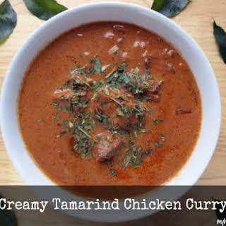 Creamy Tamarind Chicken Curry.