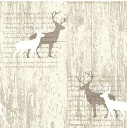 Arthouse Stag Cream Cabin Wood Tapet trä 623001