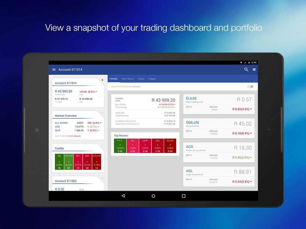 Standard bank business online - Standard Online Share Trading Screenshot