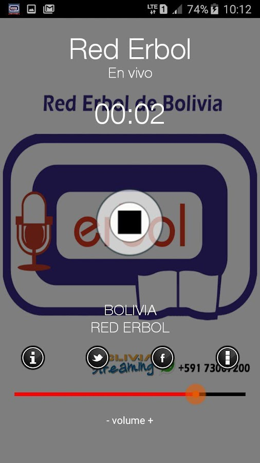 Radio ERBOL de Bolivia- screenshot