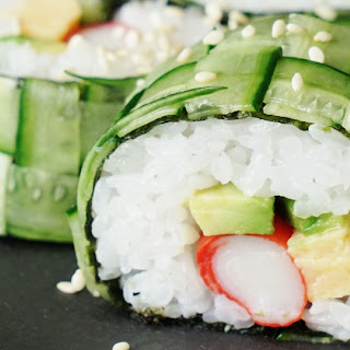 Braided Cucumber Sushi Roll.