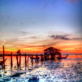 Sunrise Penang by Azira Ahmad - Landscapes Sunsets & Sunrises ( advertisement female sunrise sunset )