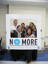 Photo: Lt. Governor Ray Tenorio along with the BOSSA Staff stand against violence in our community!