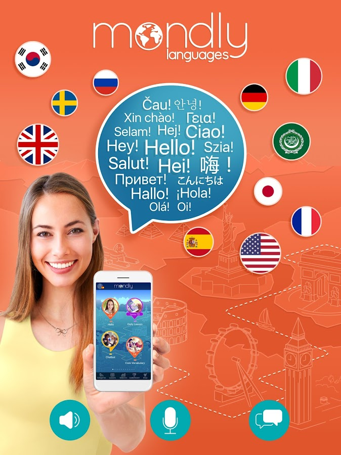 Learn 33 Languages Free - Mondly- screenshot