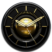 NEMESIS Designer Clock Widget black gold