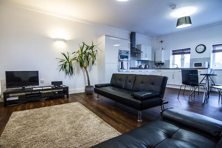 Bright living space at Perceval House