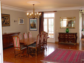 Photo: Smart Dining Area with Splendid Monastery Table and Chairs.