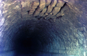 Photo: The ceiling of the subterranean aqueduct channel