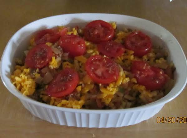 Glorified Tomatoes, Beefy Mac'n Cheese Dish