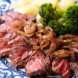 Hanger Steak with Shallots Recipe
