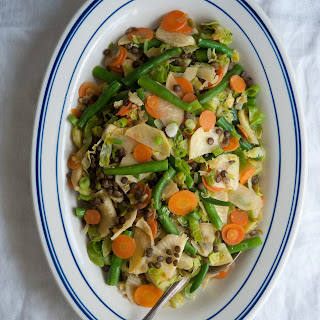Five-Vegetable Stir-Fry with Lentils.