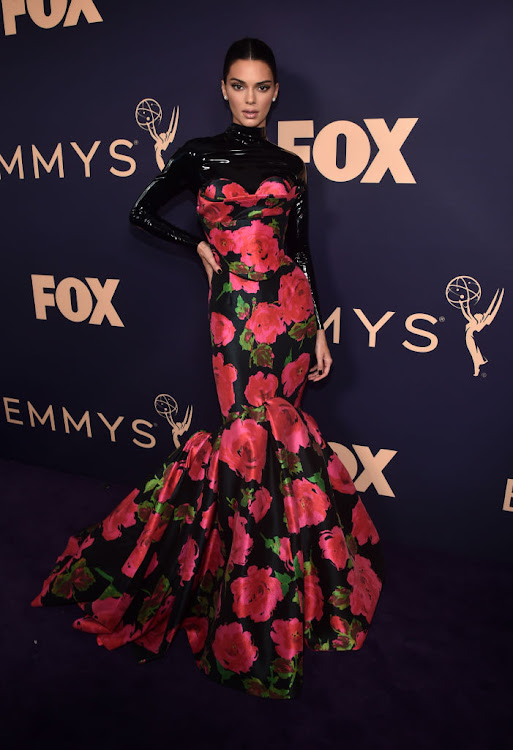 Kendall Jenner in Richard Quinn at the 2019 Emmy Awards.