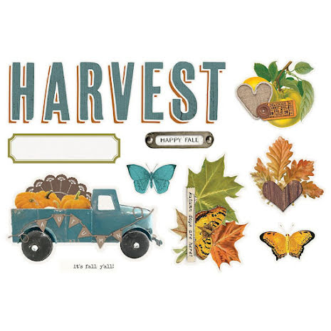 Simple Stories Simple Page Pieces - SV Country Harvest