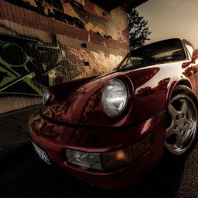 Aircooled, baby! by Matthias Weigel - Transportation Automobiles ( altes rathaus, rot, hdr, regensburg, dan, dultplatz, gewerbepark, 964, porsche, universität )