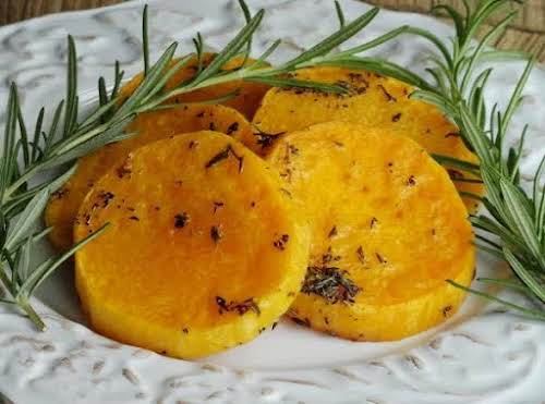 """Rosemary Chili-Lime Butternut Squash Rounds """"Wow, you're right, this is fabulous and..."""