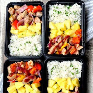 Hawaiian BBQ Pork Meal Prep Bowls.