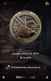 Steampunk GO Clock Themes- screenshot thumbnail