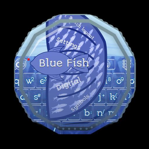 蓝鱼 GO Keyboard 個人化 LOGO-玩APPs