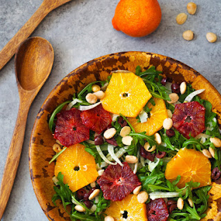 Citrus and Arugula Salad with Marcona Almonds and Fennel.