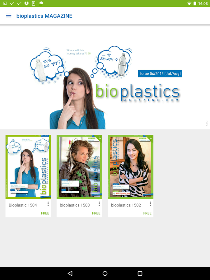 bioplastics MAGAZINE- screenshot