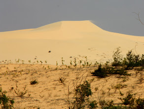 Photo: Year 2 Day 21  -  The First Lot of Sand Dunes on the Dirt Track from Phan Ri Cua