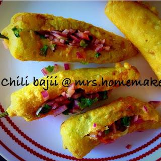 Chili Bajji /Fritter (Mirchi Bajji )