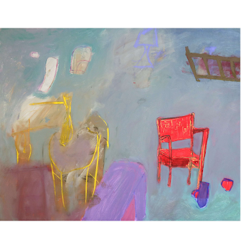 Wei Tan -Tatawa- , Red Chair in Mint Room II