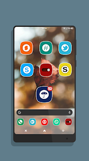 Oreo Z Flat Icon Pack app (apk) free download for Android/PC/Windows screenshot