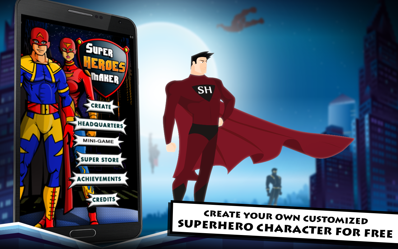 Superhero maker hd android apps on google play 3d building maker online free