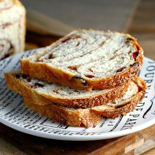 Craisin Cinnamon Swirl Bread