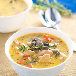 Creamy Chicken and Mushroom Soup.