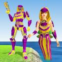 Mermaid Transform Robot: Air Jet Robot Games icon