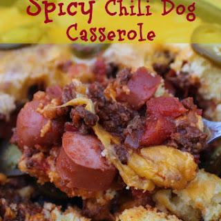 Spicy Chili Dog Casserole.