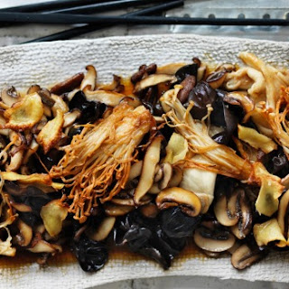 Stir-fried Mushrooms With Soy And Ginger.